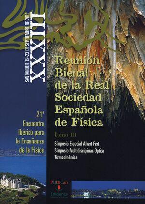 XXXIII REUNIÓN BIENAL DE LA REAL SOCIEDAD ESPAÑOLA DE FÍSICA