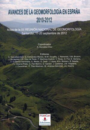 REUNIÓN NACIONAL DE GEOMORFOLOGÍA. 12. SEPTIEMBRE 2012. SANTANDER