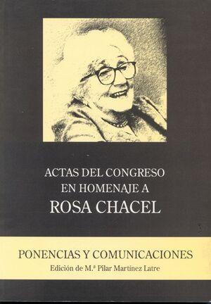 ACTAS DEL CONGRESO EN HOMENAJE A ROSA CHACEL