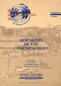 RESÚMENES DE LAS COMUNICACIONES