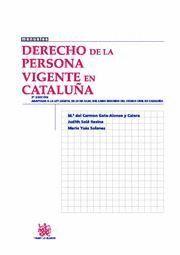 DERECHO DE LA PERSONA VIGENTE EN CATALUÑA