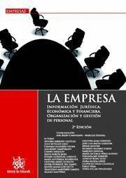 EMPRESA, LA INFORMACION JURIDICA, ECONOMICA Y FINANCIERA : ORGANIZACION Y GESTION DE PERSONA