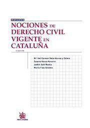 NOCIONES DE DERECHO CIVIL VIGENTE EN CATALUÑA