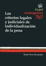CRITERIOS LEGALES Y JUDICIALES DE INDIVIDUALIZACION DE LA PENA, LOS