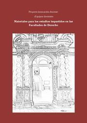 MATERIALES PARA LOS ESTUDIOS IMPARTIDOS EN LAS FACULTADES DE DERECHO