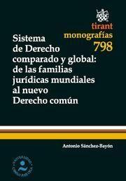 SISTEMA DE DERECHO COMPARADO Y GLOBAL : DE LAS FAMILIAS JURÍDICAS MUNDIALES AL NUEVO DERECHO COMÚN