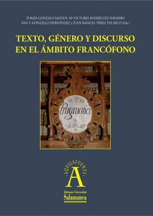 TEXTO, GÉNERO Y DISCURSO EN EL ÁMBITO FRANCÓFONO