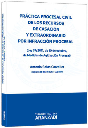 PRÁCTICA PROCESAL CIVIL DE LOS RECURSOS DE CASACIÓN Y EXTRAORDINARIO POR INFRACCIÓN PROCESAL - (LEY 37/2011, DE 10 DE OCTUBRE, DE MEDIDAS DE AGILIZACI