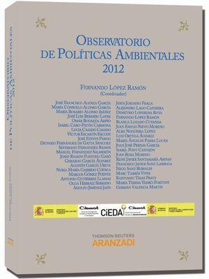 OBSERVATORIO DE POLÍTICAS AMBIENTALES 2012