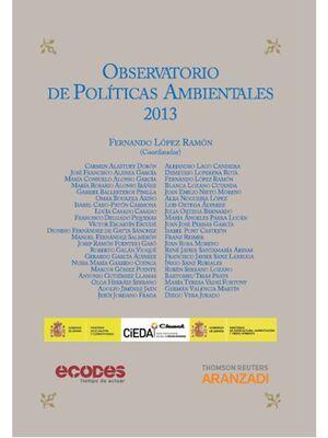 OBSERVATORIO DE POLÍTICAS AMBIENTALES 2013