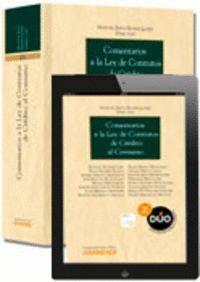 COMENTARIOS A LA LEY DE CONTRATOS DE CRÉDITO AL CONSUMO (PAPEL + E-BOOK)