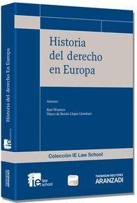 HISTORIA DEL DERECHO EN EUROPA ( PAPEL + E-BOOK ) FORMATO DUO