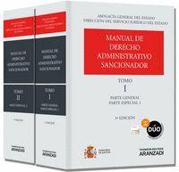 MANUAL DE DERECHO ADMINISTRATIVO SANCIONADOR (2 TOMOS) (PAPEL + E-BOOK) PARTE GENERAL Y PARTE ESPECI