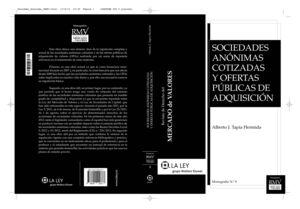 SOCIEDADES ANÓNIMAS COTIZADAS Y OFERTAS PÚBLICAS DE ADQUISICIÓN