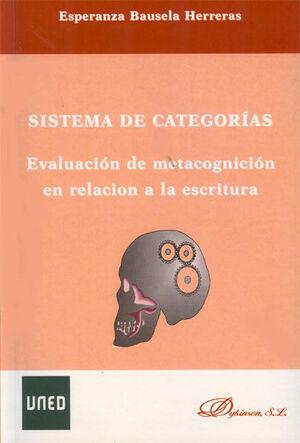 SISTEMAS DE CATEGORÍAS. EVALUACIÓN DE METACOGNICIÓN EN RELACIÓN A LA ESCRITURA