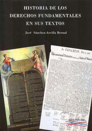 HISTORIA DE LOS DERECHOS FUNDAMENTALES EN SUS TEXTOS