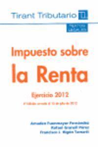 IMPUESTO SOBRE LA RENTA EJERCICIO 2012