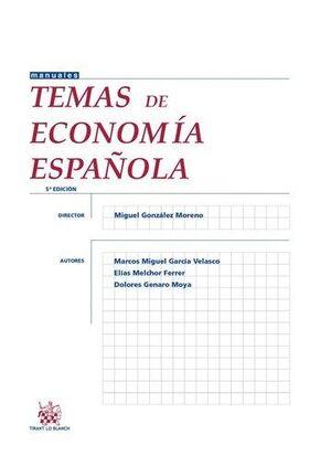 TEMAS DE ECONOMIA ESPAÑOLA