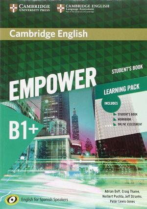 CAMBRIDGE ENGLISH EMPOWER FOR SPANISH SPEAKERS B1+ STUDENT'S BOOK WITH ONLINE ASSESSMENT AND PRACTICE AND WORKBOOK