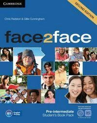 FACE2FACE FOR SPANISH SPEAKERS PRE-INTERMEDIATE STUDENT'S PACK (STUDENT'S BOOK WITH DVD-ROM, SPANISH SPEAKERS HANDBOOK WITH CD, WORKBOOK WITH KEY) 2ND