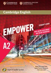 CAMBRIDGE ENGLISH EMPOWER FOR SPANISH SPEAKERS A2 STUDENT'S BOOK WITH ONLINE ASSESSMENT AND PRACTICE AND ONLINE WORKBOOK