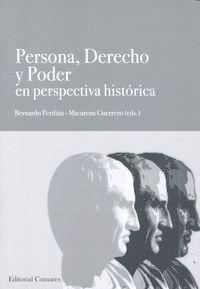 PERSONA, DERECHO Y PODER EN PERSPECTIVA HISTÓRICA
