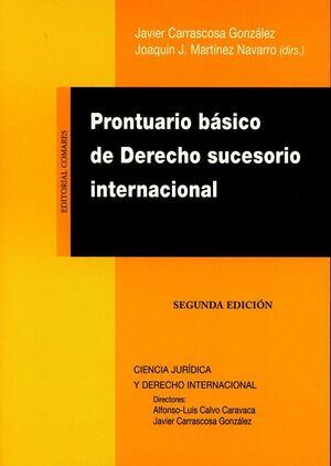 PRONTUARIO BÁSICO DE DERECHO SUCESORIO INTERNACIONAL