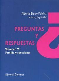 PREGUNTAS Y RESPUESTAS V: FAMILIA Y SUCESIONES