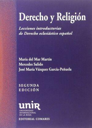 DERECHO Y RELIGIÓN : LECCIONES INTRODUCTORIAS DE DERECHO ECLESIÁSTICO ESPAÑOL