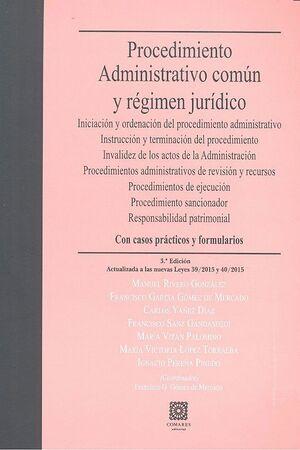 PROCEDIMIENTO ADMINISTRATIVO COMÚN Y RÉGIMEN JURÍDICO