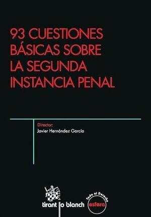 93 CUESTIONES BÁSICAS SOBRE LA SEGUNDA INSTANCIA PENAL