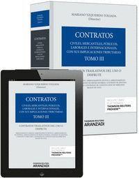 TOMO III. CONTRATOS TRASLATIVOS DEL USO O DISFRUTE (PAPEL + E-BOOK)
