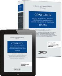 TOMO X. CONTRATOS BANCARIOS (PAPEL + E-BOOK)