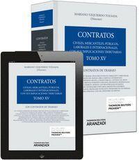 TOMO XV. LOS CONTRATOS DE TRABAJO (PAPEL + E-BOOK)