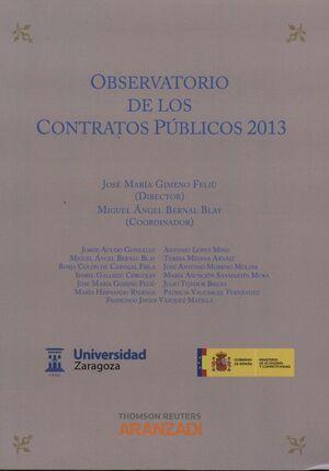 OBSERVATORIO DE LOS CONTRATOS PÚBLICOS 2013