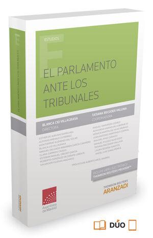EL PARLAMENTO ANTE LOS TRIBUNALES (PAPEL + E-BOOK)