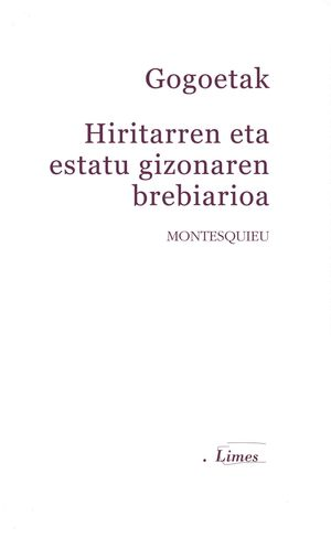 GOGOETAK / HIRITARREN ETA ESTATU GIZONAREN BREBIARIOA