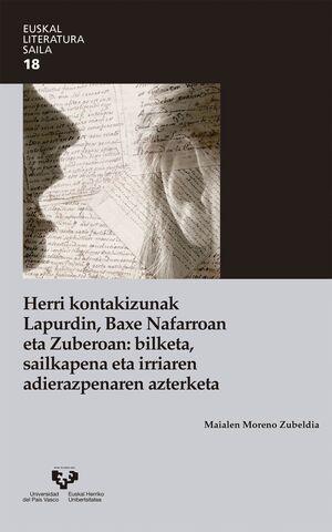 HERRI KONTAKIZUNAK LAPURDIN, BAXE NAFARROAN ETA ZUBEROAN