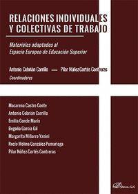 RELACIONES INDIVIDUALES Y COLECTIVAS DE TRABAJO MATERIALES ADAPTADOS AL ESPACIO EUROPEO DE EDUCACIÓN