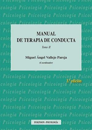 MANUAL DE TERAPIA DE CONDUCTA. TOMO II