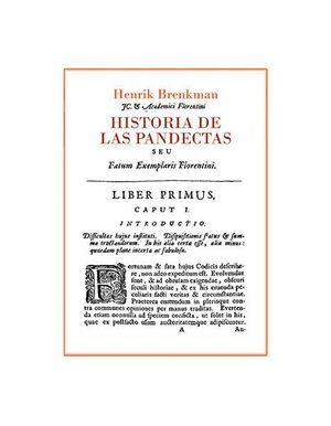 HISTORIA DE LAS PANDECTAS
