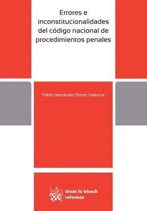 ERRORES E INCONSTITUCIONALIDADES DEL CÓDIGO NACIONAL DE PROCEDIMIENTOS PENALES