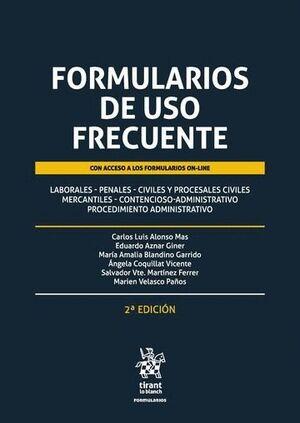 FORMULARIOS DE USO FRECUENTE 2ª EDICIÓN 2016