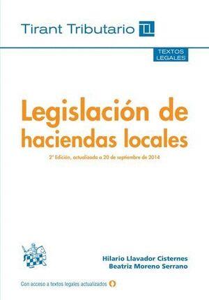 LEGISLACIÓN DE HACIENDAS LOCALES 2ª EDICIÓN 2014