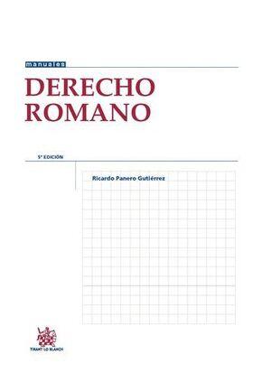 DERECHO ROMANO 5ª EDICIÓN 2015