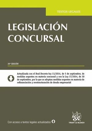 LEGISLACIÓN CONCURSAL 20ª EDICIÓN 2014