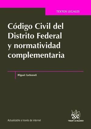 CÓDIGO CIVIL DEL DISTRITO FEDERAL Y NORMATIVIDAD COMPLEMENTARIA