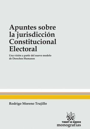 APUNTES SOBRE LA JURISDICCIÓN CONSTITUCIONAL ELECTORAL