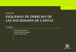 TOMO XLI ESQUEMAS DE DERECHO DE LAS SOCIEDADES DE CAPITAL 2ª EDICIÓN 2015
