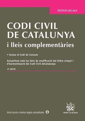 CODI CIVIL DE CATALUNYA I LLEIS COMPLEMENTÀRIES 8ª EDICIÓ 2015